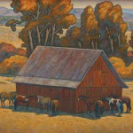 Howard Post, Eight in the Shade, oil, 36 x 44.