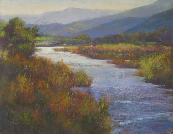 Janis Ellison, Summer Blush, pastel, 16 x 20.