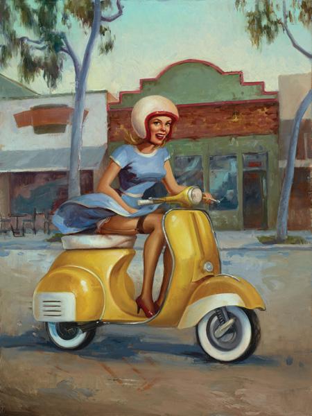 Melanie Florio, The Good Egg, oil, 24 x 18.