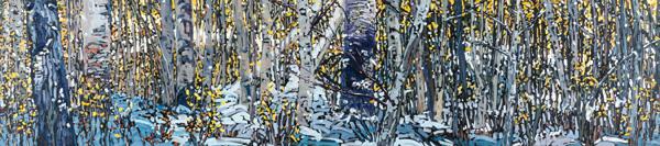 Deb Komitor, When Seasons Collide #1, oil, 18 x 79.