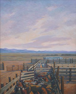 Howard Post, Moving to New Pasture, oil, 52 x 42.