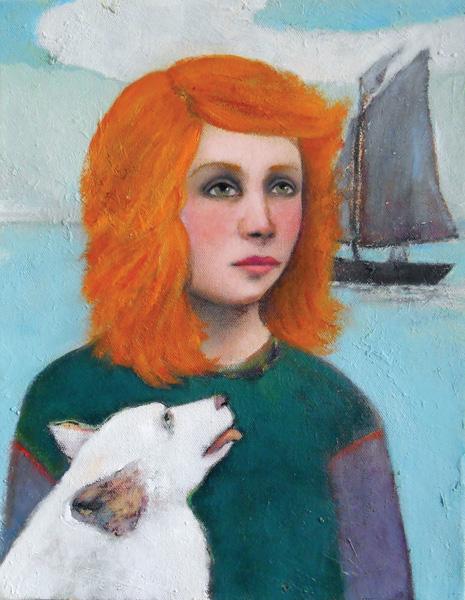 Shannon Richardson, The Companion Ship, oil, 14 x 11.