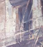 Jill Soukup, White Rise, oil, 60 x 15.