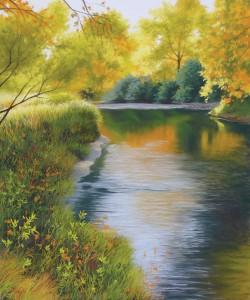 Nancy Wylie, Morning Has Broken, pastel, 24 x 20.