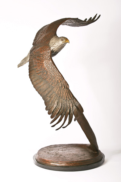 Christopher Schiller, Faith, bronze, 34 x 18 x 16.