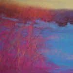 Anna Wainright, Dusk After the Snow, soft pastel, 12 x 18.