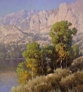Dennis Doheny, Lakeside Sentinels, oil, 40 x 36.