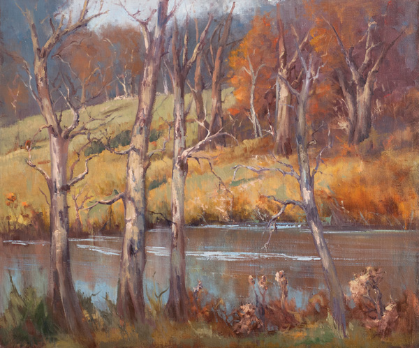 Mary Garrish, November's Beauty, oil, 20 x 24.