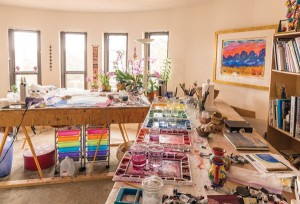 Phyllis Kapp's studio in Santa Fe, NM