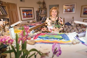 Phyllis Kapp at her studio in Santa Fe, NM