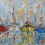 Joachim Mcmillan, Bayside Harbor, oil, 18 x 24.