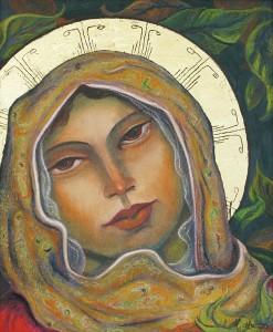 Miguel Martinez, Saint Genevieve II, pastel, 24 x 20.