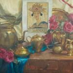 Gladys Roldan-de-Moras, Nessum Dorma, oil, 24 x 30.