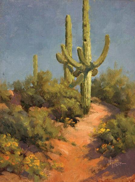 Walter Porter, Arizona Blue, oil, 12 x 9.