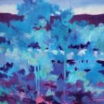 Marshall Noice, Riverside Shadows, oil, 33 x 33.