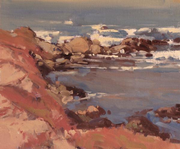 Gene Costanza, Pacific Grove Patterns, oil, 10 x 12.