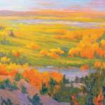Teruko Wilde, Autumn Day, oil, 42 x 42.