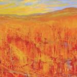 Teruko Wilde, Autumn Serenade, oil, 40- x 54.
