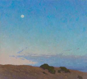 Jennifer Moses, Blushing Twilight, oil, 40 x 44.