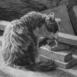 Dan Oakleaf, Riff-Raff, pencil, 9 x 12.
