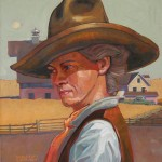 William Ersland, The Rancher's Wife, acrylic, 14 x 12.