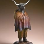 Liz Wolf, Vaquero, bronze, 22 x 11 x 7.
