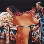 Marlin Rotach, Saddle Study #2, watercolor, 11 x 14.
