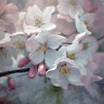 Michael Godfrey, In the Midst of Blossoms, oil, 12 x 12.