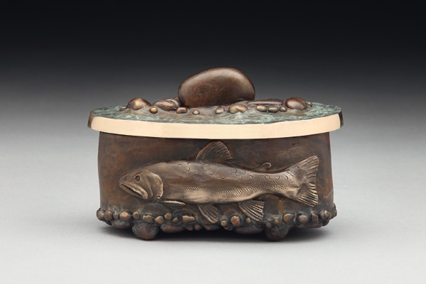 James G. Moore, Brookie Vessel, bronze, 3 x 4 x 2.