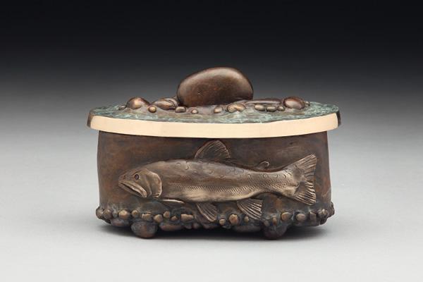 James G. Moore, Brookie Vessel, bronze, 3 x 4 x 2.