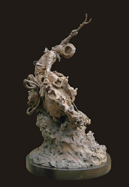 Scott Rogers, Legend, bronze, 22 x 12 x 12.