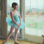 William Schneider, At the Window, pastel, 18 x 16 (2013 second place).