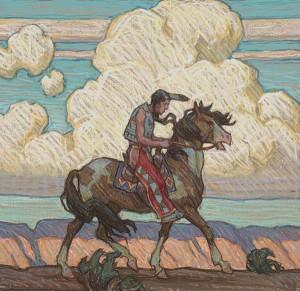 Tim Solliday, Desert Wind, pastel, 14x15 (2013 First place).