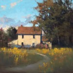 Romona Youngquist, Summer Scene, oil, 40 x 40.