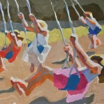 Peggi Kroll-Roberts, Swings, oil, 12 x 16.