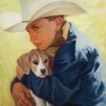 Teresa Vito, Come Along Doggie, oil, 16 x 20.