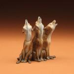 Joshua Tobey, 3 Amigos, bronze, 5 x 5 x 2.