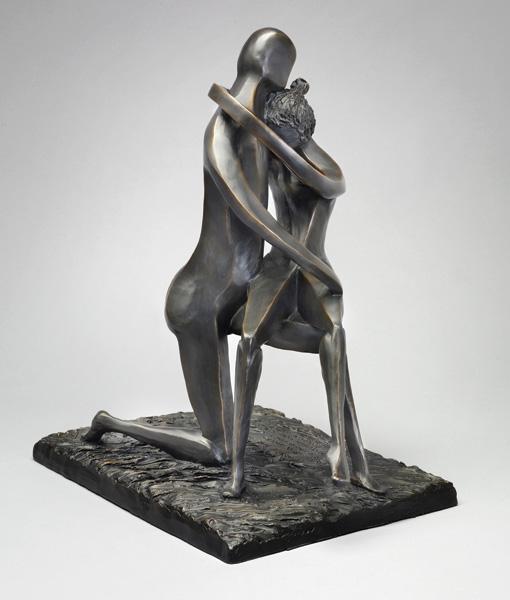 David Unger, Beneath the Stars, bronze, 18 x 15 x 11.