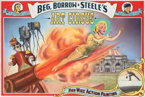 Ben Steele, Art Circus, oil, 36 x 54