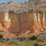 Damien Gonzales, Abiquiu Cliffs, oil, 9 x 12.