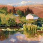 Bonnie McGee, Barn at Skylark, oil, 9 x 12.