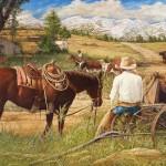 Robert Dorman, Bringing Them Down, oil, 24 x 36.
