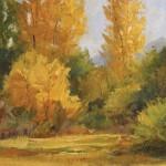 Peggy Immel, Early Autumn, oil, 8 x 10.