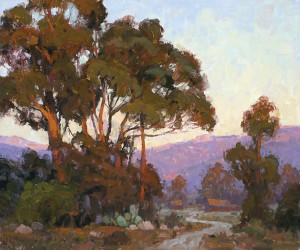 Jim Wodark, Eucalyptus Evening, oil, 20 x 24.