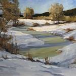 Peggy Immel, Frozen Over, oil, 18 x 24.