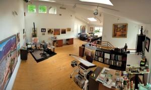 Gary Ernest Smith's studio in Highland, UT.