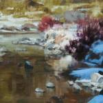 Brenda Hendrix, A Light Moment, oil, 8 x 10.