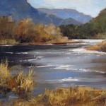 Peggy Immel, Lazy Rio Grande, oil, 9 x 12.