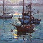 Jim Wodark, Monterey Moonbeam, oil, 20 x 20.