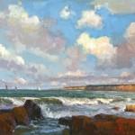 Jim Wodark, Sailing Day, oil, 24 x 30.